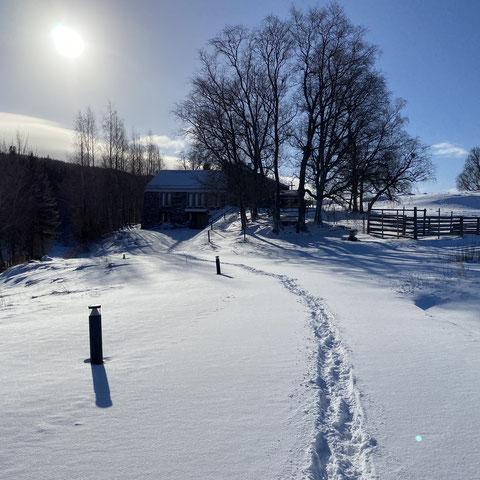 Das verschneite Kloster St Marien Munkeby