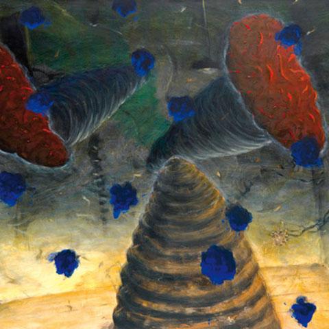 "walter schmögner, ""41,6 grad"", 1988/2006, 100 x 140 cm, acryl auf leinwand – galerie erlas"
