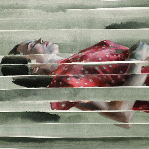 "dénesh ghyczy, ""lucid dream"",  2014, 90 x 135 cm, öl und acryl auf leinwand – erlas galerie"
