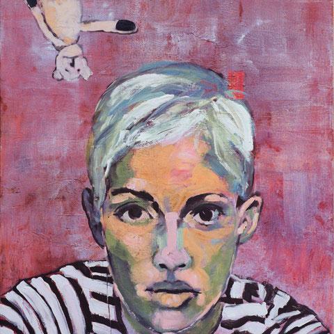 """sigrid hutter, """"das wahlzuckerl"""", 2015, 160 x 120 cm, acryl auf leinwand – galerie erlas"""