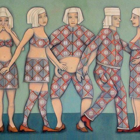 """michou hutter, """"geheimnis 2"""", 2020, 115 x 145 cm, öl auf baumwollgewebe – erlas galerie"""