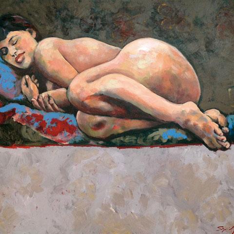 """sigrid hutter, """"heimliche königin"""", 2014, 80 x 100 cm – galerie erlas"""