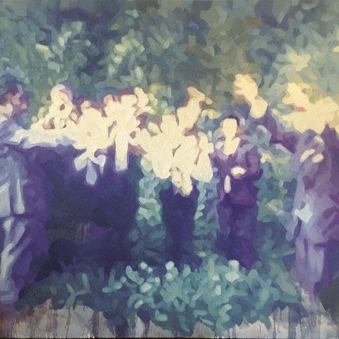"adam bota ""blaskapelle"", 2019, öl auf leinwand, 140 x 180 cm – erlas galerie"