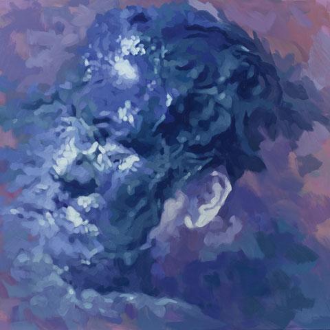 "adam bota, ""schlammengel"", 2015, 110 x 120 cm, öl auf leinwand – erlas galerie"