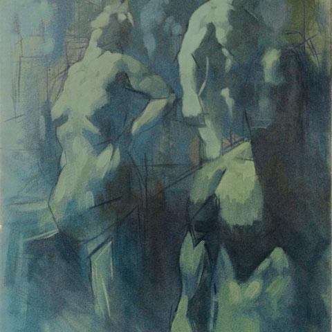 adam bota, o.t. (inkupationszeit), 2008, 70 x 50 cm, öl auf leinwand – galerie erlas