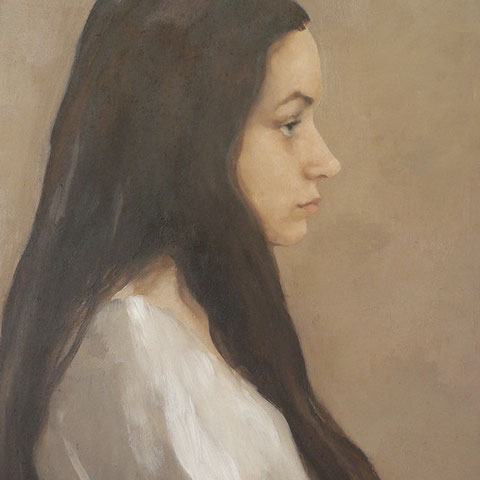 "roger schindler, ""alma"", 2015, 55 x 40 cm, öl auf holz – erlas galerie"