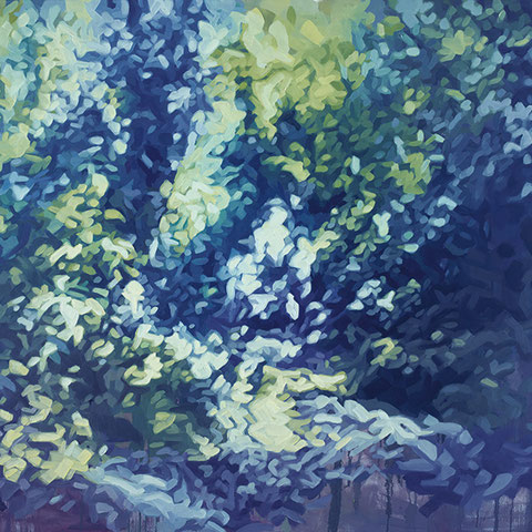 "adam bota, ""waldgeister"", 2020, 150 x 200 cm, öl auf leinwand – erlas galerie"
