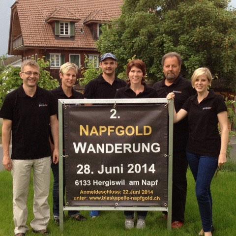 OK Napfgold Wanderung 2014 Gregor, Luzia, Thomas, Anita, Paul, Eliane