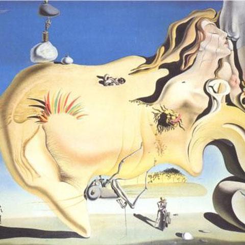 Dali: Der große Masturbator (Quelle: WikiPaintings)