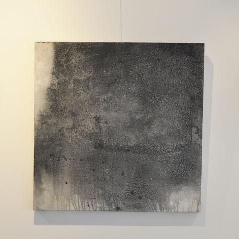 589. Acryl/Mischtechnik auf Holzkörper, 80x80 cm, Iris Lehnhardt 2017