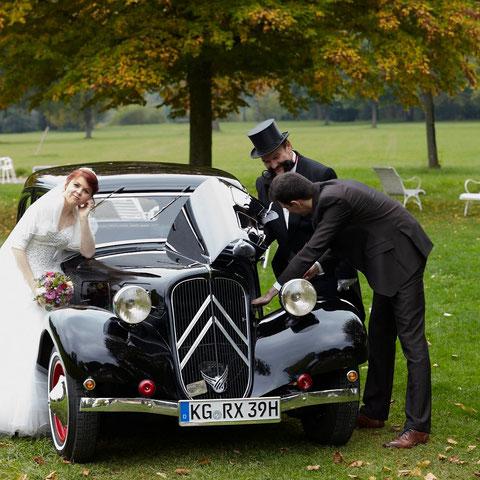 Inszeniertes Hochzeitsshooting