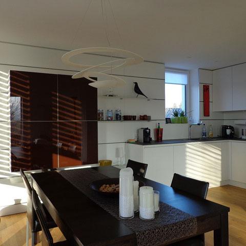 paneelsystem k che hwd glasfronten schiebet ren. Black Bedroom Furniture Sets. Home Design Ideas