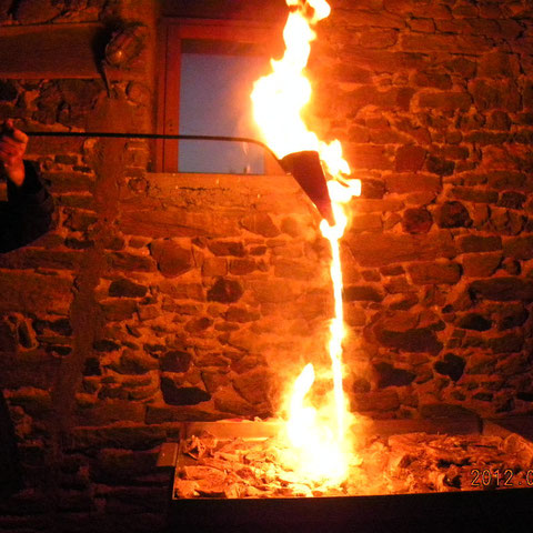 Flambage de la viande au capucin ou Flambadou