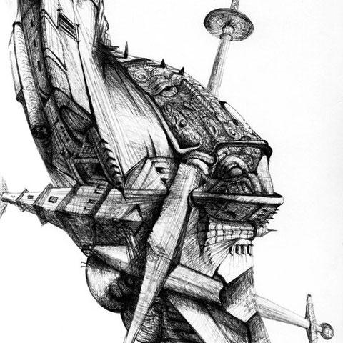 Ufo Kugelschreiber 30x21 7.1999