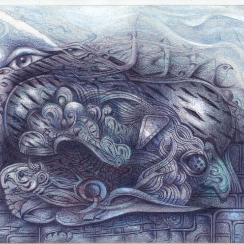 Donnervogel Buntstift 30x21 1999