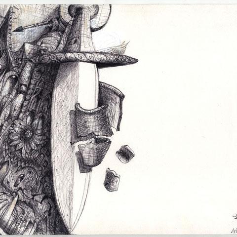 Schwert der Wahrheit 2   Kugelschreiber 7. 1999 30x21