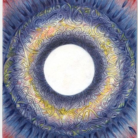 Auge des Druiden 30x21 Buntstift 3.1999