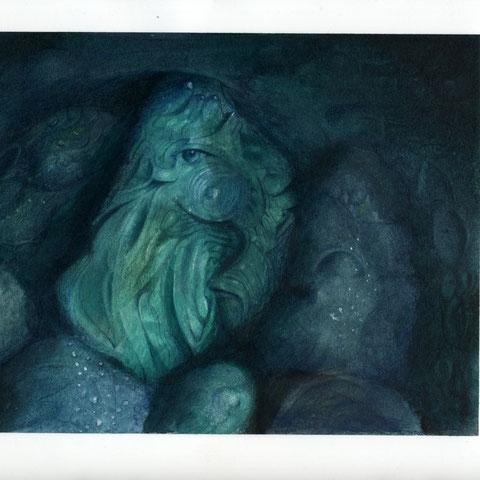 Malachit Öl Buntstift  24X18  6.1991