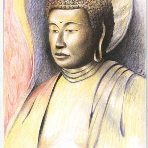 Bodhisattva Buntstift  12.2012 30x21