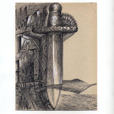 Schwert der Wahrheit 1  Kugelschreiber 6. 1999 30x21