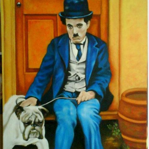 Charlot et son chien