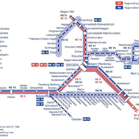 Bahn-Netz 2010