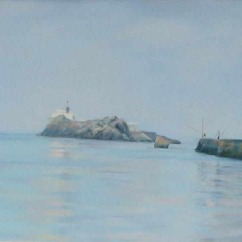 Fishing at dawn. 100 x 50 cm. *