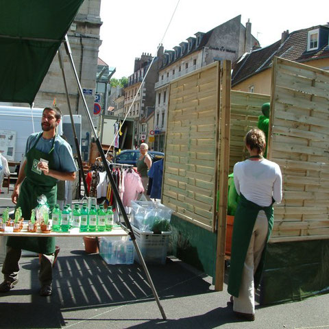 """Le stand- spectacle """"l'Homme Vert""""- Aline Siffert"""