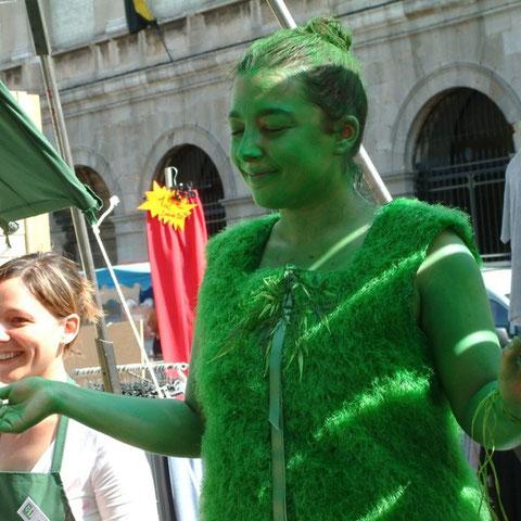 "Forcynthias- spectacle ""l'Homme Vert""- Aline Siffert"