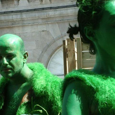"Léondindron et Adeleweis- spectacle ""l'Homme Vert""- Aline Siffert"
