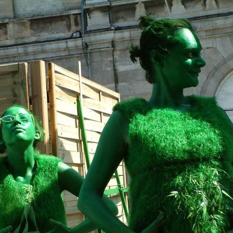 "Adeleweis et Julipe - spectacle ""l'Homme Vert""- Aline Siffert"
