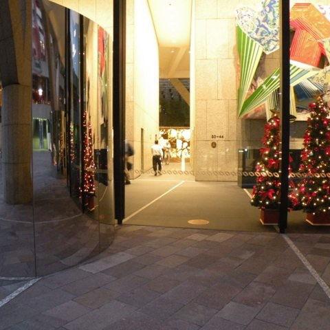 Weihnachtsstimmung in Sydney. Unser Wunsch ging in Erfüllung (wenigstens im Bild)