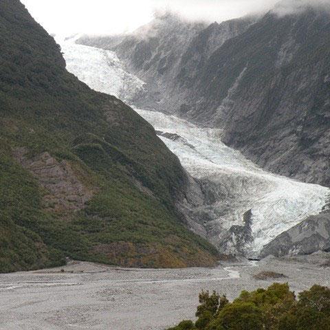 Franz Josef Glacier. Schnee an Weihnachten gehört einfach dazu