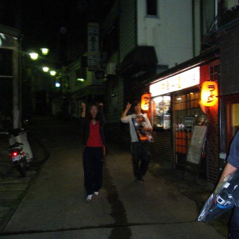 帰りの夜道。