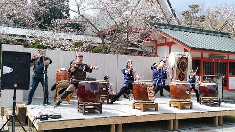 寧鼓座 和太鼓 奈良 桜祭り 御嶽山