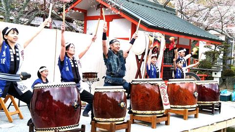 寧鼓座 和太鼓 奈良 御嶽山 桜祭り