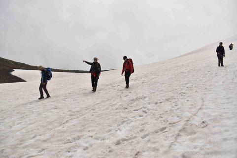 旭岳の雪渓