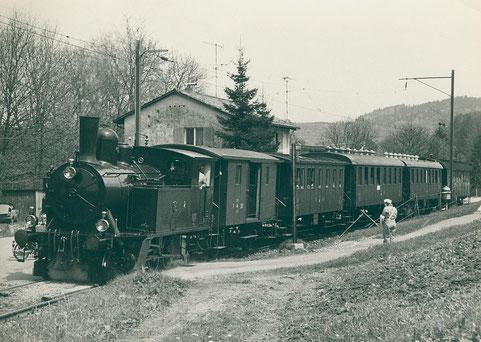 DVZO Museumszug in Neuthal, aufgenommen im Mai 1979  (© Sammlung DVZO)