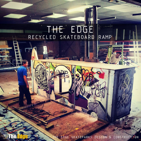 THE EDGE skatepark Recycled Skateboard Ramp