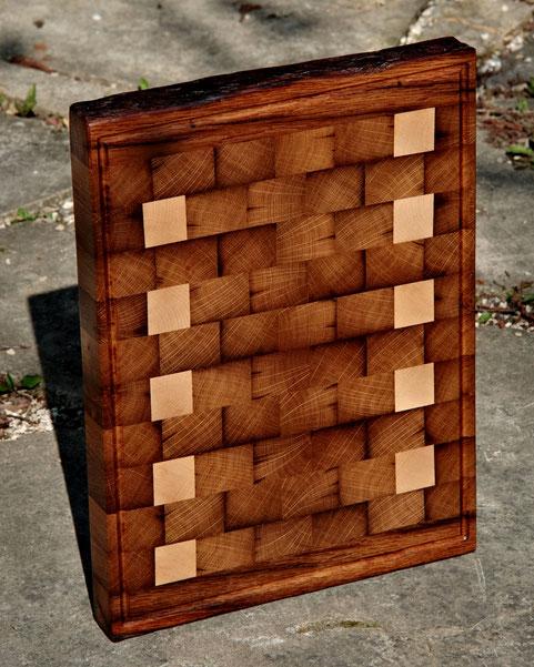 Hirnholzbrett aus Holz, edles Stirnholzbrett aus Holz, edles Servierbrett aus Holz, Edle Servierbretter aus Holz, Küchenbrett aus Holz
