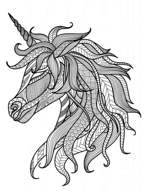 mandala de caballo para colorear
