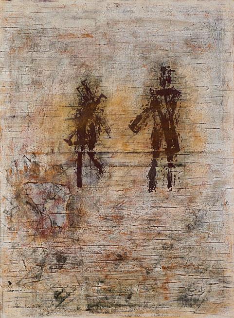 """""""Heimkehr - der Ritter und seine Frau""""; Acryl auf Leinwand; 60 x 80 cm"""