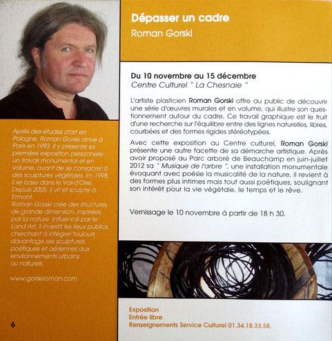 "2012 – Centre culturel  ""La chesnaie"", Beauchamps - Roman Gorski"