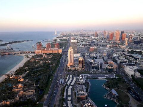Blick aus dem 71. Stock bei Sonnenuntergang