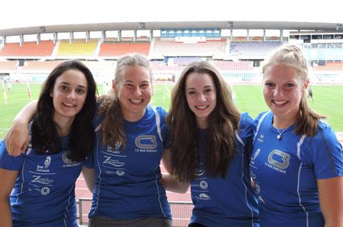knapp an Bronze vorbei geschrammt; Delia Schüpbach, Jessica Büeler, Svenja Moll, Tessa Morshuis