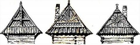 Характерные завершения крыш - щиты