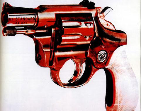 Самые известные работы Энди Уорхола - Револьвер (1982)