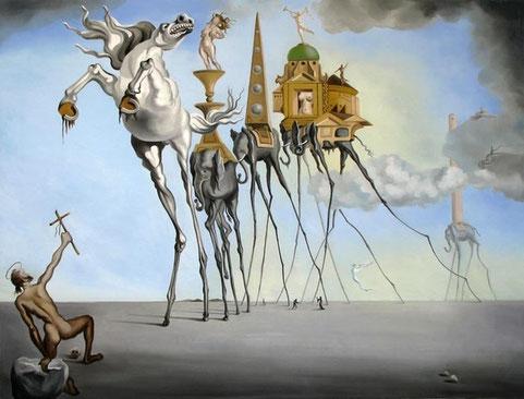 Знаменитые картины Сальвадора Дали - Искушение Святого Антония