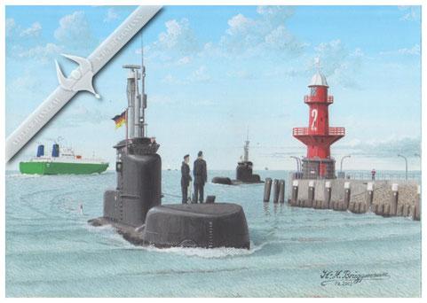 U-Boot S 195, Südschleuse Brunsbüttel