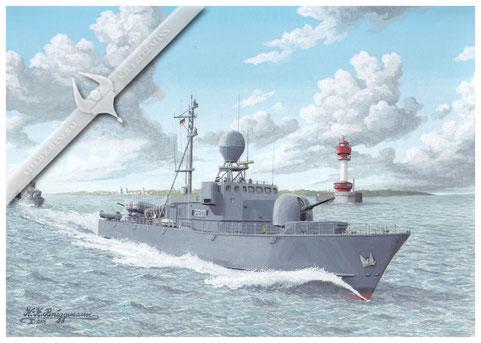 """Schnellboot """"Albatros"""" P 6111, 2. SG, Kieler Förde"""